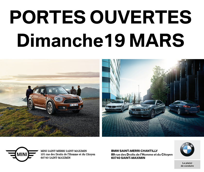 portes ouvertes bmw et mini le dimanche 19 mars article gueudet automobile. Black Bedroom Furniture Sets. Home Design Ideas